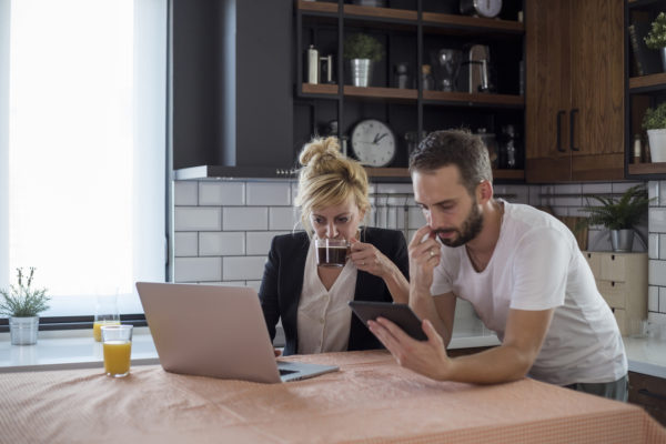 Couples make decisions together during career transitions